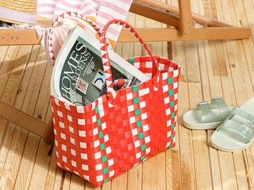 Hand Bag Çanta 28.5 X 14.5 X 22 Kırmızı - Beyaz