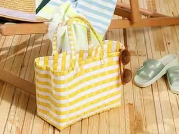 Hand Bag Çanta 28.5 X 14.5 X 22 Beyaz - Sarı