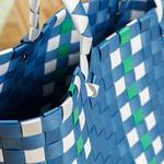 Hand Bag Çanta 28.5 X 14.5 X 22 Mavi - Kırık Beyaz