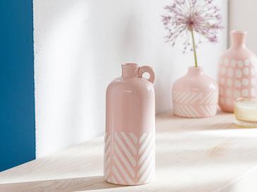 Bottle Vazo 8.8x8.8x20.5 Cm Pembe