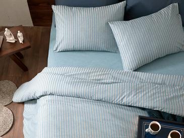 Classy Melange Twill Tek Kişilik Nevresim Takımı 160x220 Cm Mavi