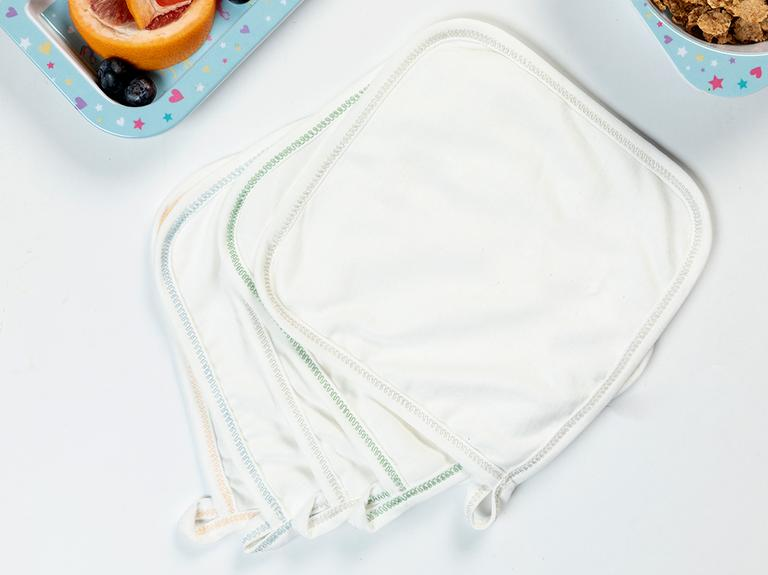 Soft Pamuk Bebek Ağız Sılme Bezı 20x20 Cm Krem