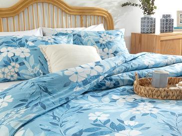Summer Garden Pamuklu Çift Kişilik Nevresim Seti 200x220 Cm Mavi