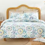 Chrysant Pamuklu Tek Kişilik Nevresım Setı 160x220 Cm Mavi