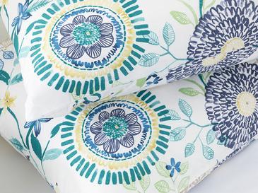 Chrysant Pamuklu 2'li Yastık Kılıfı 50x70 Cm Mavi