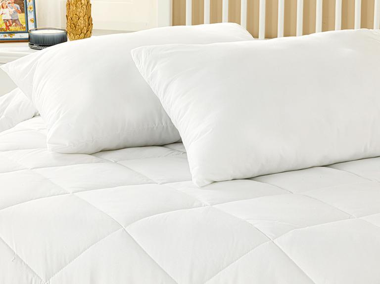 Comfort Slim Mikrofiber Çift Kişilik Yastık Yorgan Takımı 195x215 Cm Beyaz
