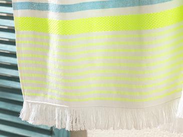 Neon Stripe Çizgili Plaj Havlusu 70x150 Cm Turkuaz - Yeşil