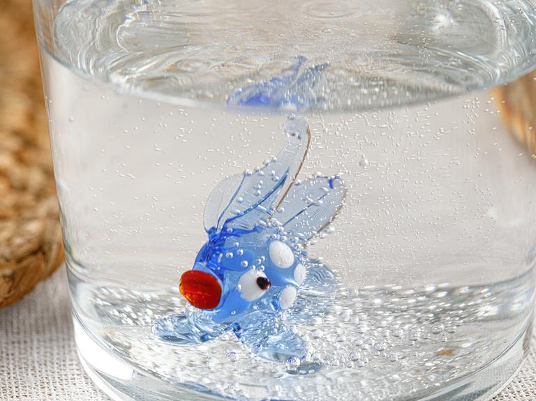 Blue Fish Cam Bardak 345 Ml Mavi