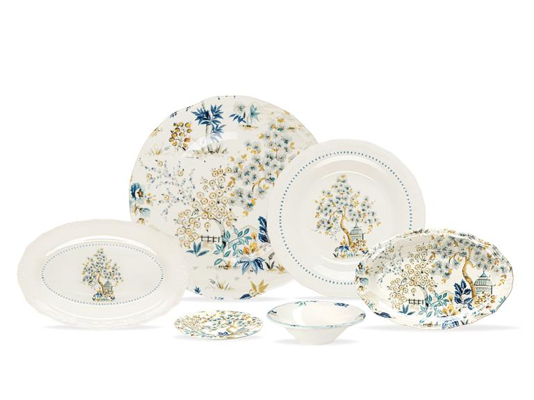 Anemon Porselen 20 Parça 6 Kişilik Kahvaltı Takımı Renkli