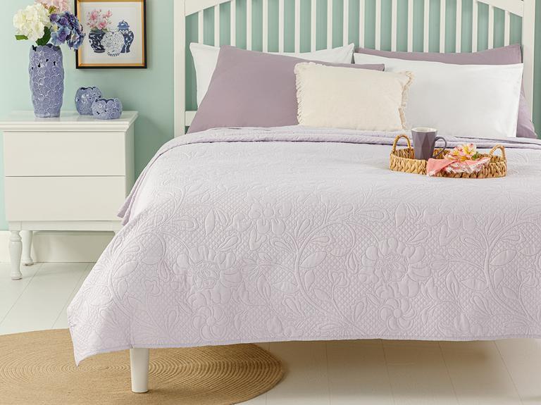 Daisy Dream Tek Kişilik Çok Amaçlı Yatak Örtüsü 160x220 Cm Lila