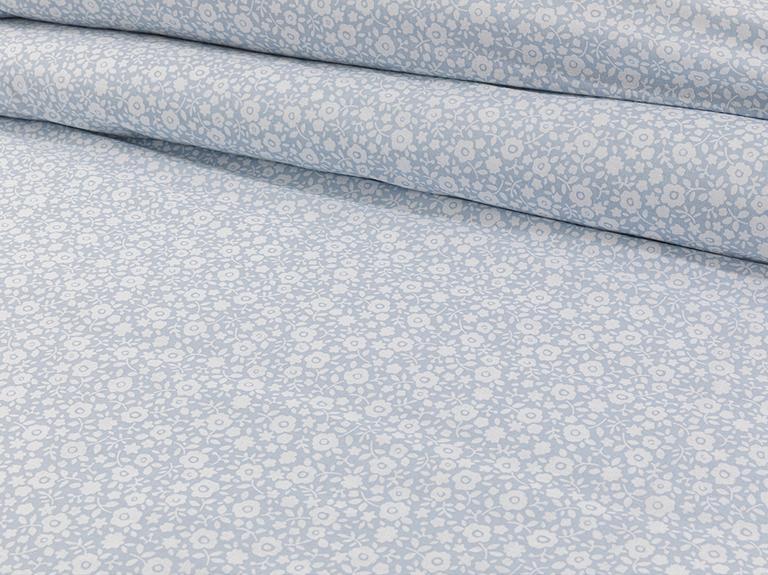 Liberty Blossom Pamuklu Çift Kişilik Nevresım Setı 200x220 Cm Mavi