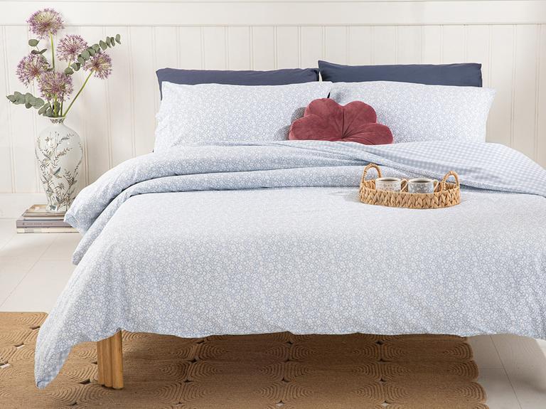 Liberty Blossom Pamuklu King Size Nevresım Setı 240x220 Cm Mavi