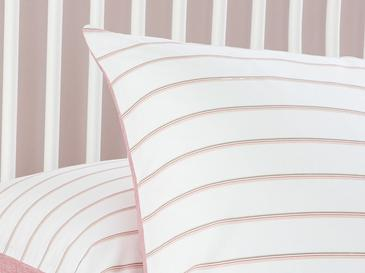 Textured Stripe Pamuklu 2'li Yastık Kılıfı 50x70 Cm Pembe