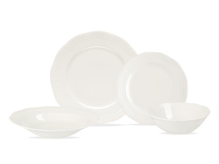 Viyana Porselen 24 Parça Yemek Takımı 16 Cm-20cm-23 Cm-27 Cm Krem