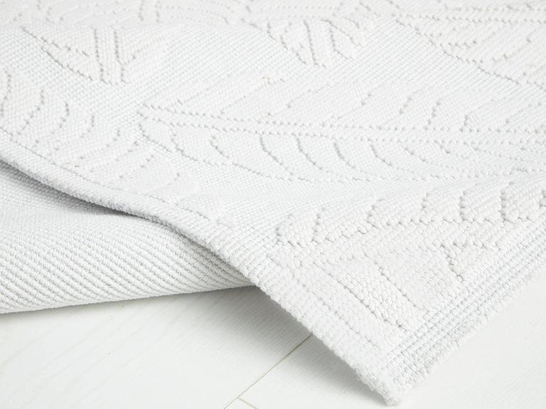 Leafy Pamuklu Kilim 120x180 Cm Beyaz