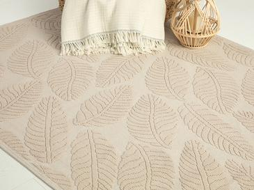 Leafy Pamuklu Kilim 80x150 Cm Bej