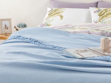 Crimped Dokuma Tek Kişilik Yatak Örtüsü 160x240 Cm Bebe Mavi