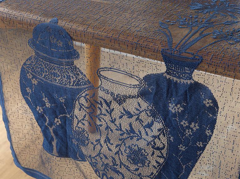 Blue Blanc Örme Runner 45x150 Cm Lacivert