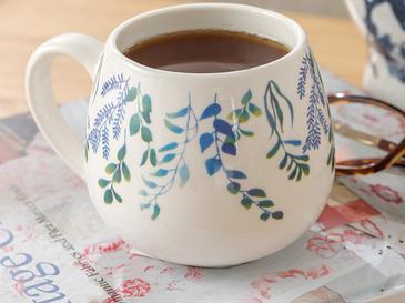 Garden Flowers Porselen Kupa 410 Ml Mavi - Yeşil