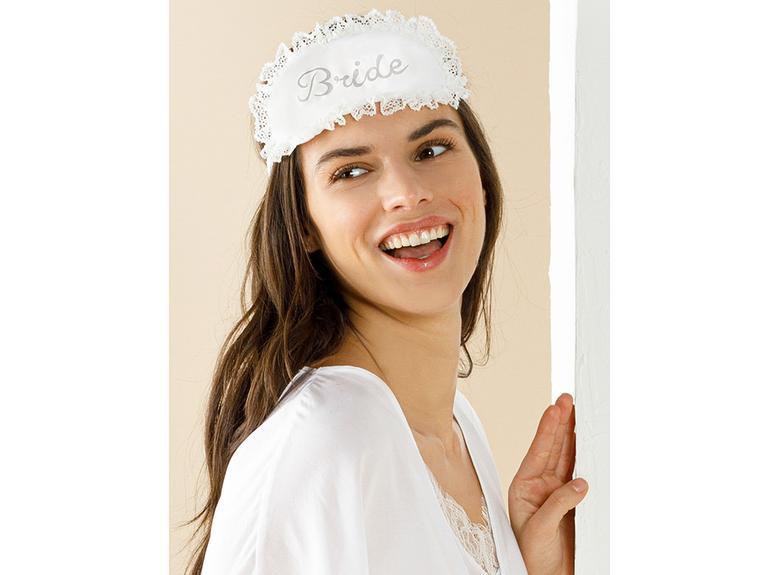 Bride Viskon Dokuma Uyku Gözlüğü Standart Beyaz