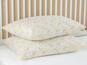 Summer Blossom Pamuklu 2'li Yastık Kılıfı 50x70 Cm Sarı