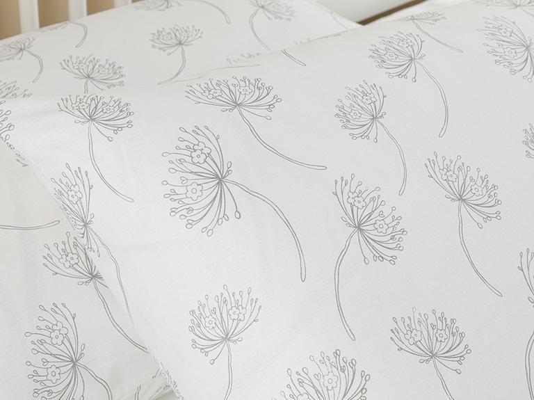 Freshly Bloom Pamuklu 2'li Yastık Kılıfı 50x70 Cm Gri