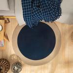 Round Jüt Kilim 160 Cm Lacivert