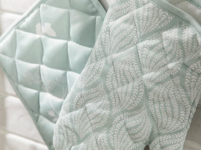 Chervil Polyester 2'li Mutfak Seti 20x20 - 19x30 Cm Yeşil