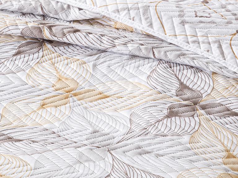 Elegant Lines Çift Kişilik Çok Amaçlı Örtü 200x220 Cm Gold