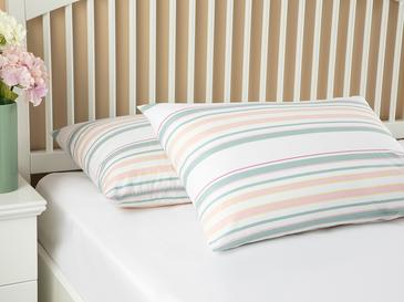 Pure Stripe Pamuklu 2'li Yastık Kılıfı 50x70 Cm Pembe