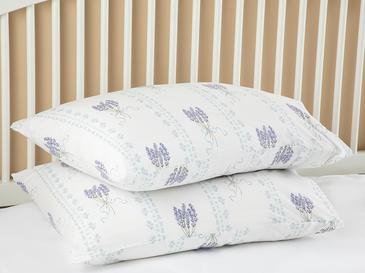 Vintage Lavender Pamuklu 2'li Yastık Kılıfı 50x70 Cm Lavanta