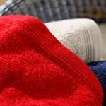 Simple Fitilli 3'lü Havlu Seti 30x30 Cm K.bej-lacivert-kırmızı