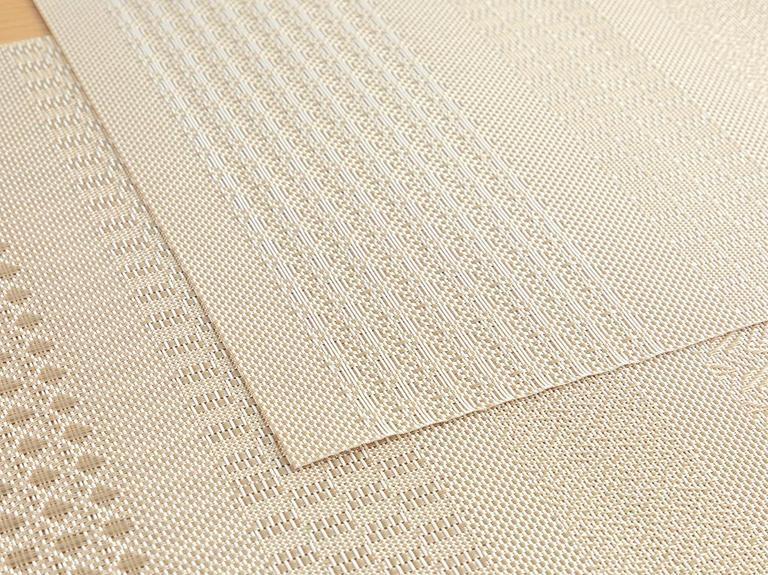 Oslo %70 Polyester+%30 Pvc 4'lü Amerikan Servis 30x45 Cm Gri