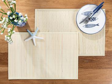 Rasia Bambu 4'lü Amerikan Servis 30x45 Cm Bej