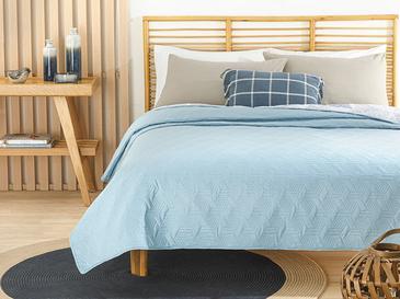 Deltoid Çift Kişilik Çok Amaçlı Yatak Örtüsü 200x220 Cm Mavi