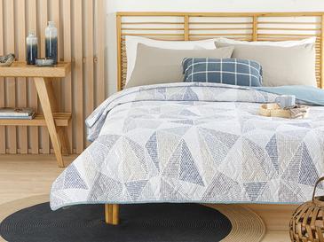Deltoid Tek Kişilik Çok Amaçlı Yatak Örtüsü 160x220 Cm Mavi