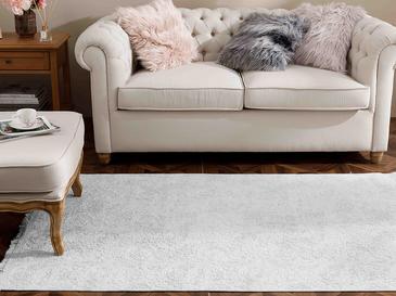 Şal Desen Polyester Halı 80x150 Cm Gri
