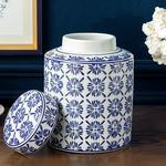 Bradford Porselen Küp 17x17x22 Cm Mavi-beyaz