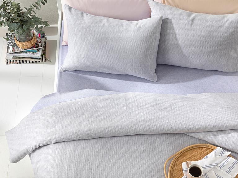 Petite Daisies İpliği Boyalı Çift Kişilik Nevresim Takımı 200x220 Cm Leylak
