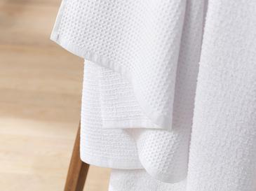 Squared Waffle Detaylı Banyo Havlusu 90x150 Cm Beyaz