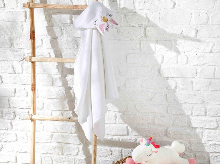 Unicorn Çocuk Plaj Havlusu 60x120 Cm Beyaz