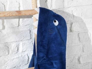 Shark Çocuk Plaj Havlusu 60x120 Cm Lacivert