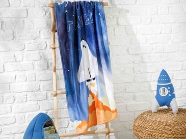 Space Çocuk Plaj Havlusu 70x130 Cm Lacivert