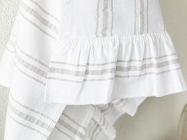 Johanna Pamuk Fırfırlı Kurulama Bezi 40x60 Cm Beyaz