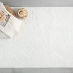 Leafy Pamuklu Kilim 80x150 Cm Beyaz