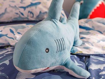 Big Shark   Dekoratif Yastık 36x71 Mavi