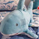 Mini Shark   Dekoratif Yastık 28x48 Cm Mavi