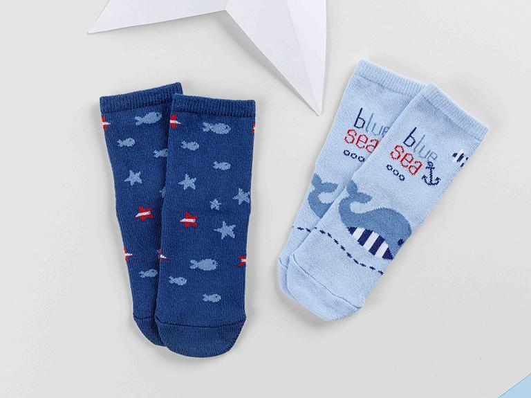 Little Whale Bebe Çorap 6-12 Ay Mavi