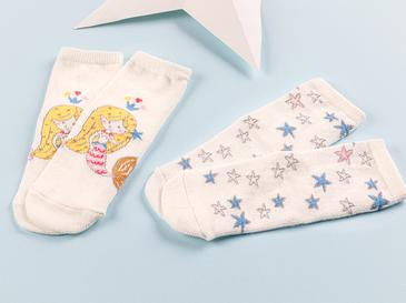Little Mermaid Bebe Çorap 6-12 Ay Pembe
