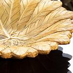 Pure Iris Polyresin Dekoratif Tabak 19X19X4,5 Cm Altın